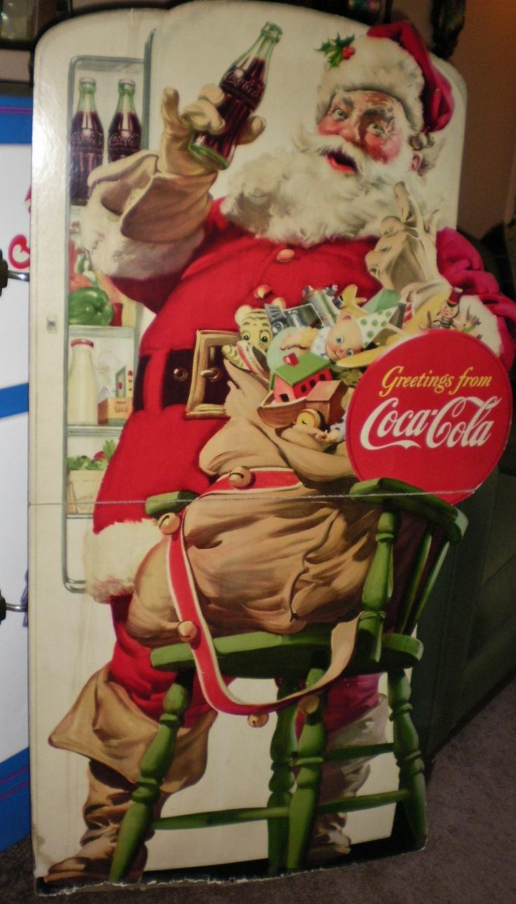 1948 Coca Cola Store Display Cardboard Stand Up Santa | eBay