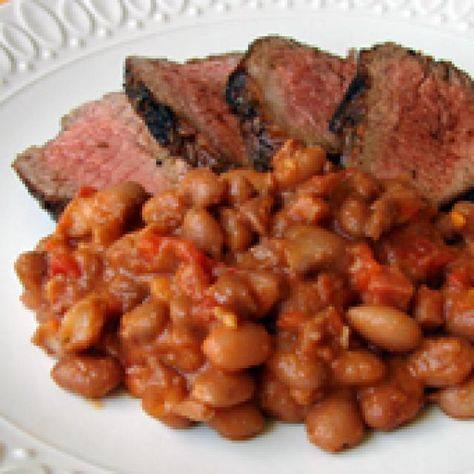 Santa Maria Style Beans Recipe: Santa Maria Style Beans Recipe.  a classic side dish for California's famous grilled Santa Maria tri-tip. Santa Maria style beans are traditionally made using pinquito beans, which are small pink beans native to that part of California, but any dried bean will work