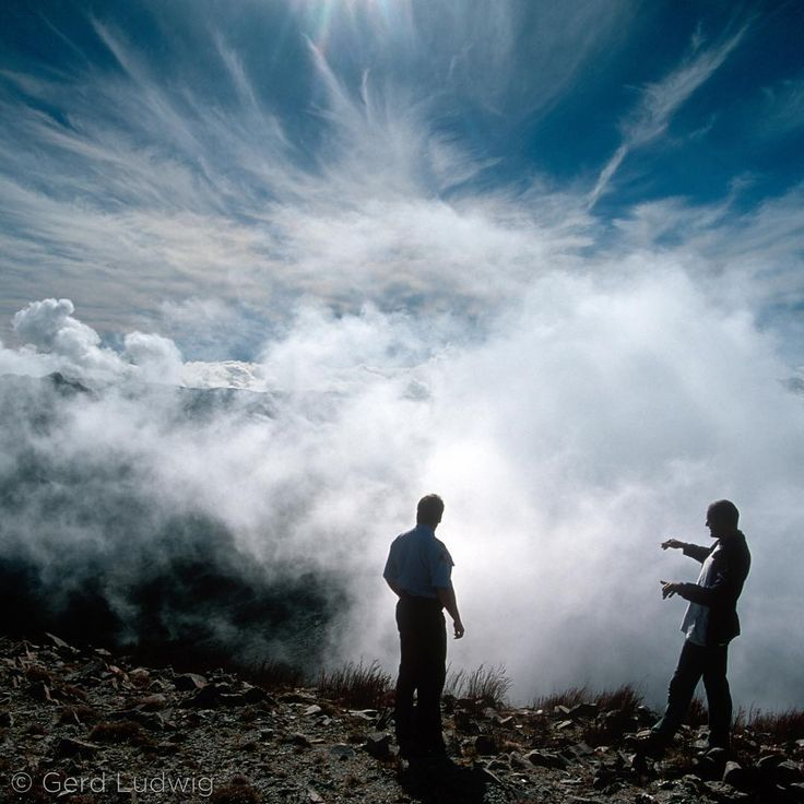 Photo by @GerdLudwig. Visitors to Tasmania enjoy the opportunity to stand above the clouds near Queenstown. With more than three meters of rain per year, Queenstown weather is dominated by rain, clouds, and fog.  @natgeo @natgeocreative @theimagereview #Tasmania #Queenstown #landscape #Australia #weather #travel #view #clouds #fog