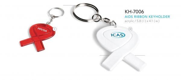 Aids Ribbon Keyholder KH-7006 AIDS RIBBON KEYHOLDER   acrylic / 5.8 ( l ) x 4.1 ( w )