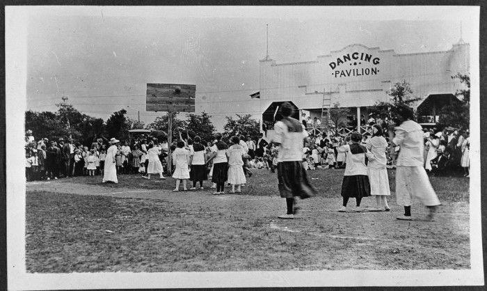 A woman's basketball game at Elmhurst Park, Mineral Wells, TX