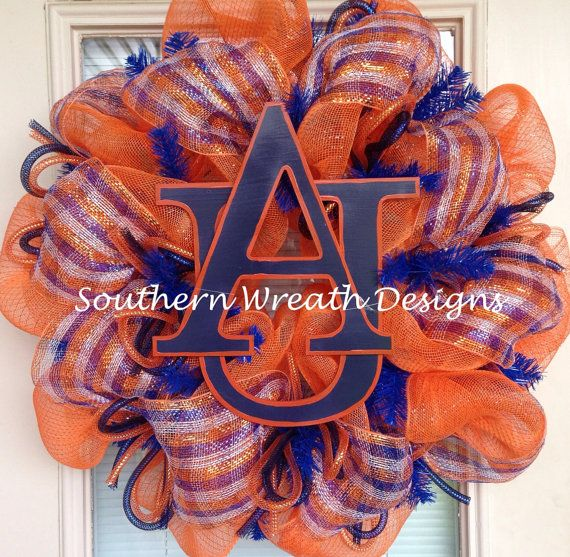 Auburn+Tigers+Mesh+Wreath+by+SouthernWreathDesign+on+Etsy,+$75.00