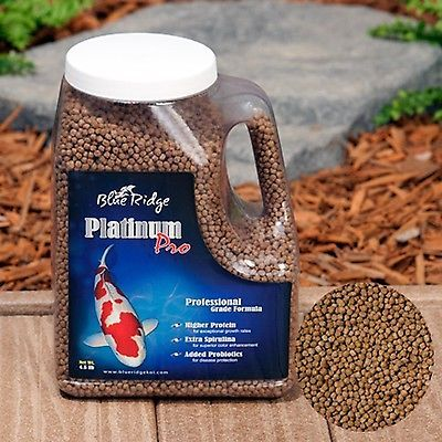 Fish Pond Supplies 134750: Blue Ridge Platinum Pro Koi Fish Food Pellets 4.5 Lb BUY IT NOW ONLY: $46.75