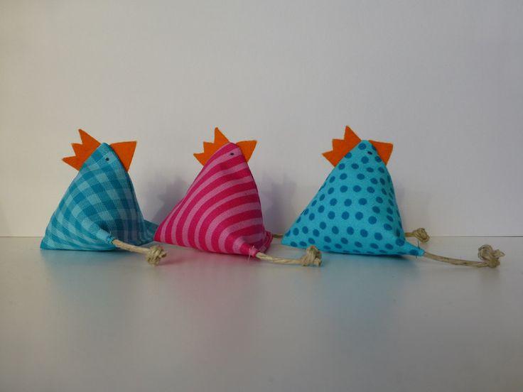Hühner-Trio+von+blommablu+auf+DaWanda.com