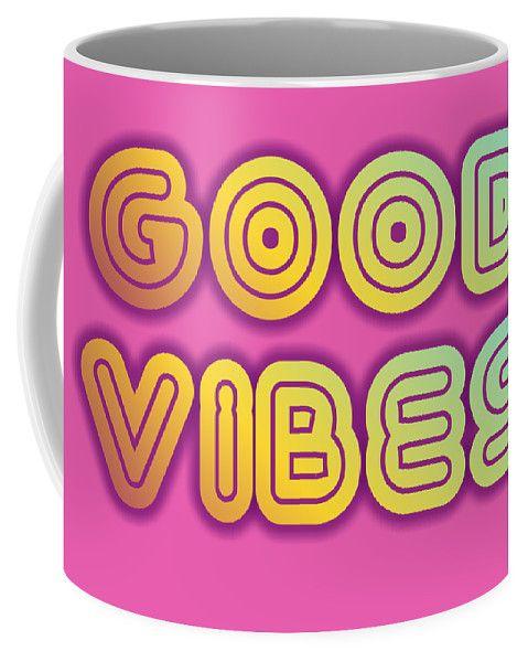 #goodvibes #mugs #colorful #retro