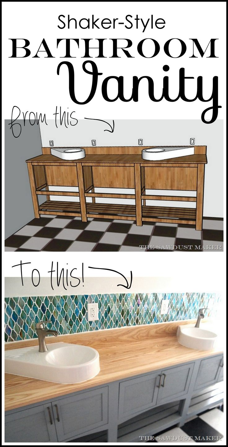 Bathroom vanity plans shaker woodworking projects plans - Bathroom vanity plans woodworking ...