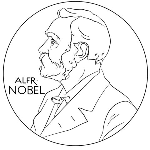 alfred nobel coloring page from famous scientists and inventors category