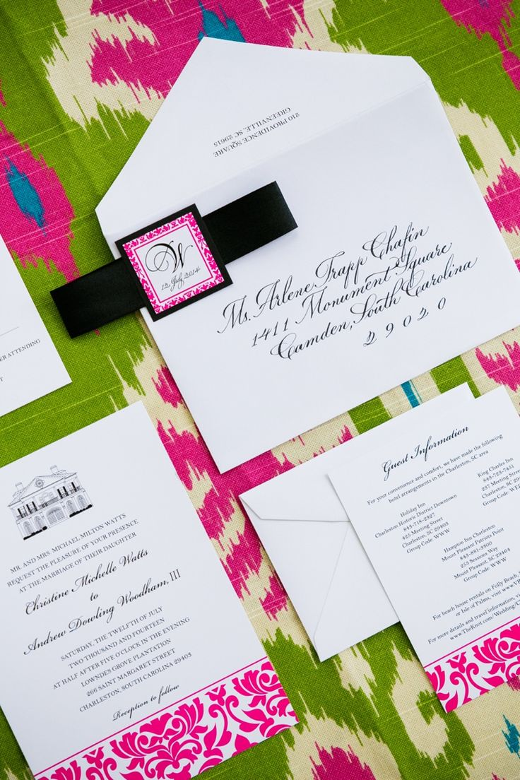 paper style wedding invitations%0A South Carolina Lilly Pulitzer Inspired Wedding
