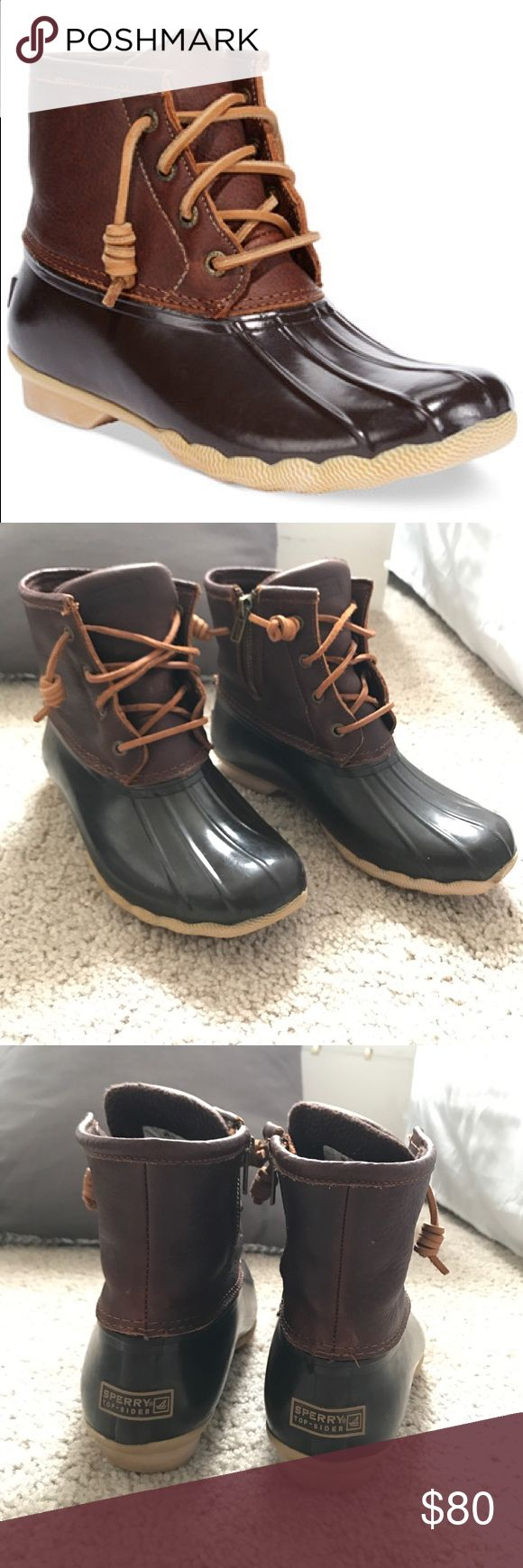 SPERRY saltwater duck boot Brand new worn only twice. Perfect condition. Will ship immediately. Very comfortable. Fits true to size. Willing to negotiate. Sperry Top-Sider Shoes Winter & Rain Boots