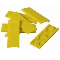 Cales PVC autodrainantes 4mm Jaune  ( 200 pièces = 20 m² )