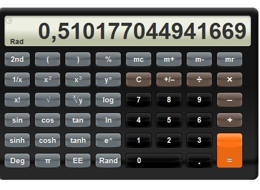 Free scientific calculator to solve complex technical and mathematical calculations very complete with many built-in functions easy to use online.