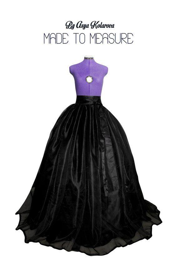Gothic Skirt Asymmetric Skirt Ball Skirt Cocktail Skirt Circle Black Skirt Waist Skirt\u0440 Waves Skirt Wedding Skirt Extravagant Skirt