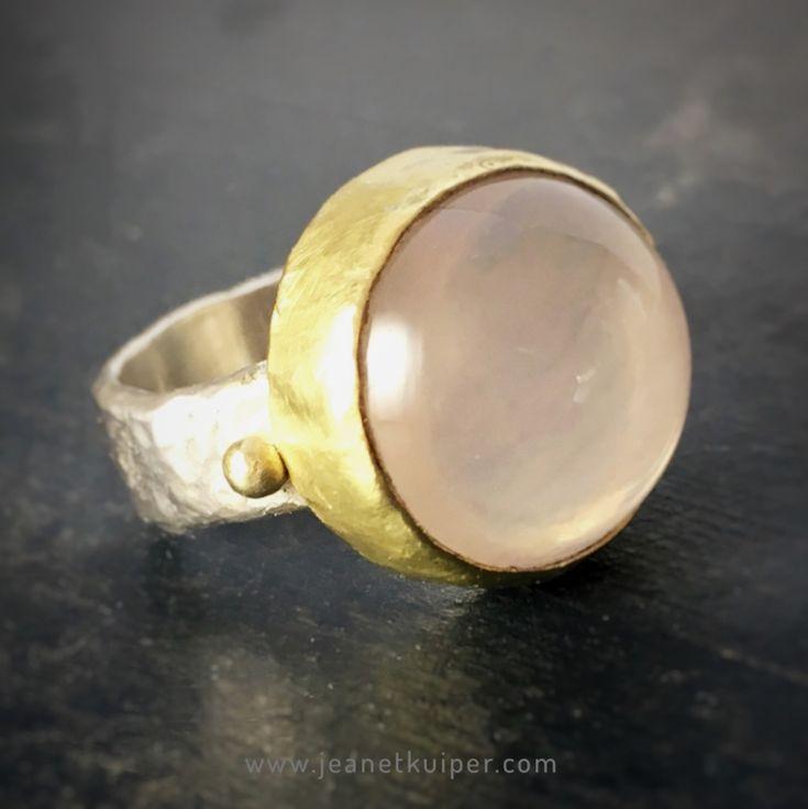 ring met rozenkwarts