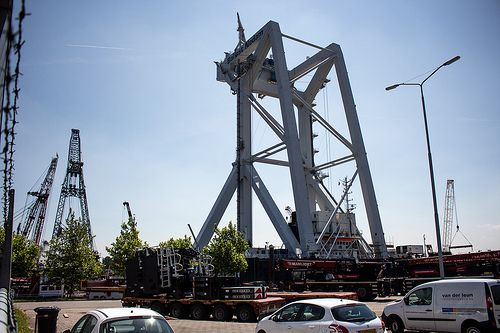 Container crane at Wiltonhaven Rotterdam #Wiltonhaven #Rotterdam #Harbor #Dock #010 #Holland #Sky #Blue #Sunny #Architecture #Urban #City #World #Port #Netherlands #Roffa #Canon #700D #Photography