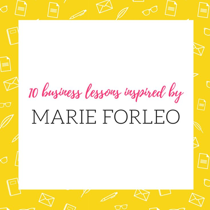 Marie Forleo on Business