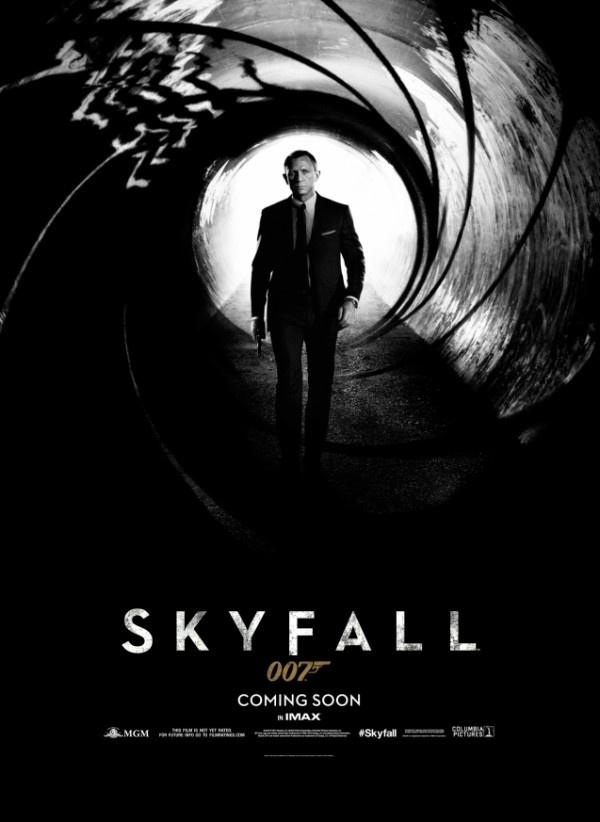 Skyfall poster gives daniel craig classic bond pose