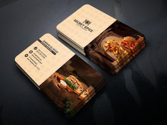 Restaurant Food Business Card Food Business Card Restaurant Recipes Restaurant Business Cards
