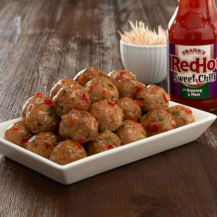 Check out this great recipe from Franks RedHot: Frank's RedHot Sweet Chili Meatballs