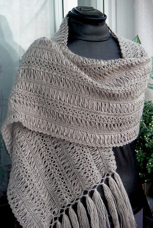 nice hairpin crochet scarf