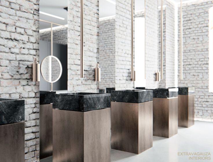 Extravagauza Interiors | Contemporary office toilet design www.extravagauza…