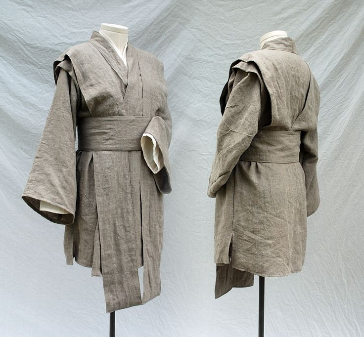 Custom Mace Windu style outfit in linen and cotton