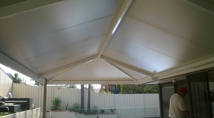 SolarSpan Insulated roofing gives you that indoors feeling with a flat ceiling finish and gives awesome protection from the aussie summer heat...