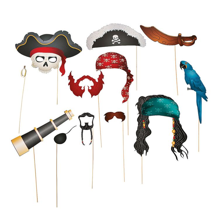 Pirate Photo Booth Props - OrientalTrading.com