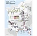 Show details for De Long's France Metro Style Wine Map