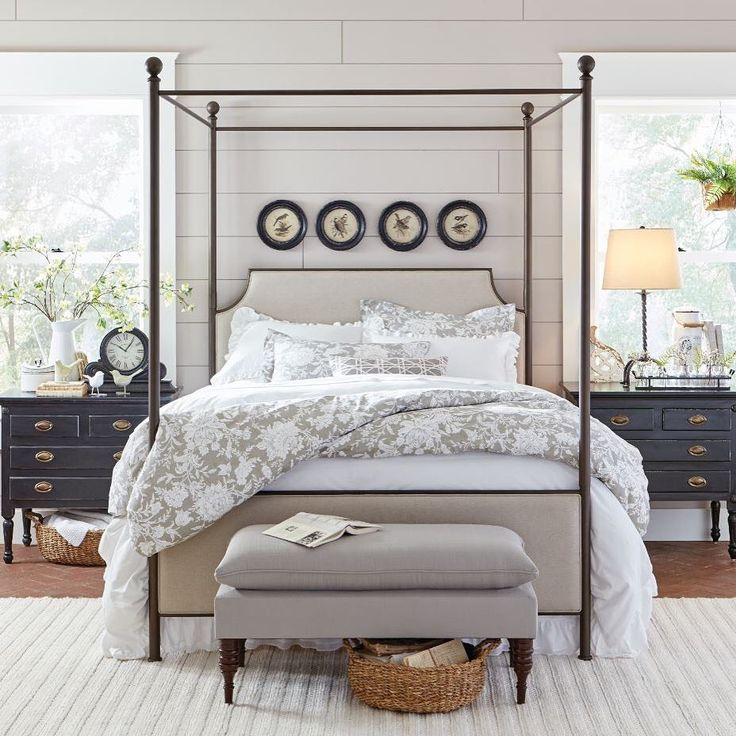 "593 Likes, 15 Comments - Birch Lane (@birchlane) on Instagram: ""There's something so timeless and classic about a statement bed! Love this #birchlanebedroombliss…"""