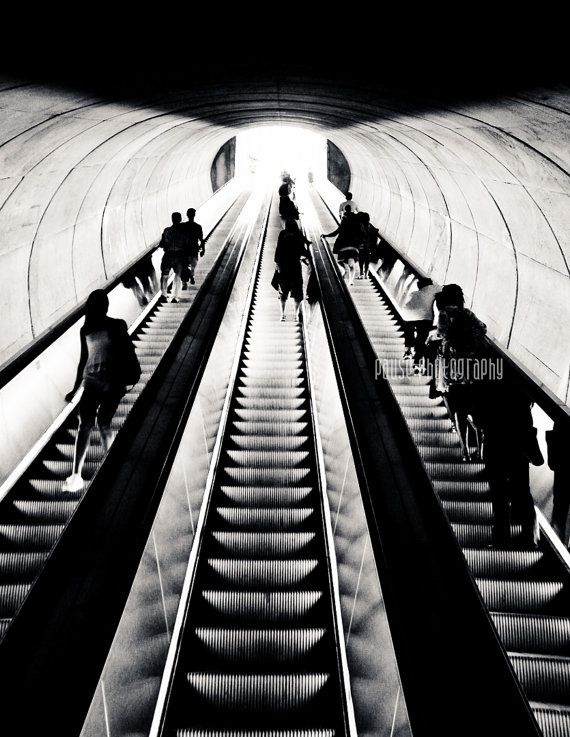 Washington DC Metro Black and White by PausePhotography on Etsy, $10.00