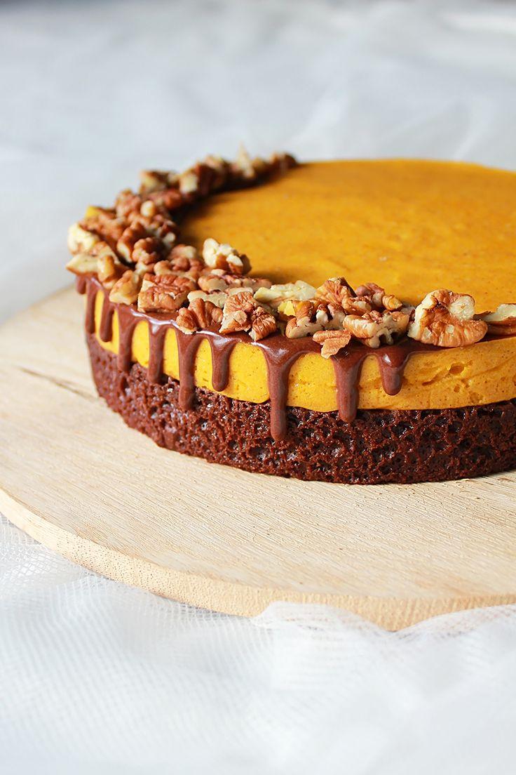 Pumpkin Mousse Chocolate Cake