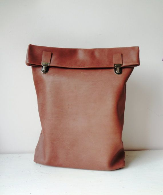 Leather Backpack / Leather Rucksack / Messenger / by byNizzo, €119.00