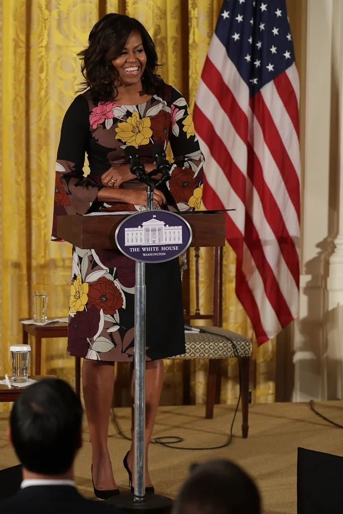 #FirstLady Of The United States #MichelleObama delivers opening remarks during the #final #JoiningForces event in the East Room of the White House #November14 #2016 in Washington, DC. Obama hosted the event to celebrate the successes and share best practices so to continue the work of the Mayors Challenge to End Veteran Homelessness.