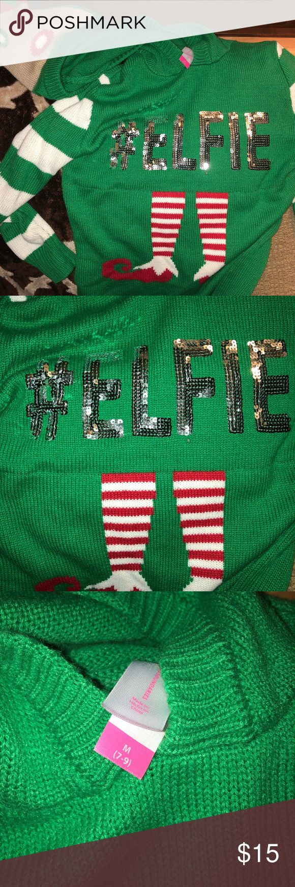 """Christmas 🎄 Sweater #ELFIE Christmas sweater! Super fun. My son and I wore matching """"ugly"""" Christmas sweaters this year but he has out grown his. This is a unisex sweater Sweaters V-Necks"""