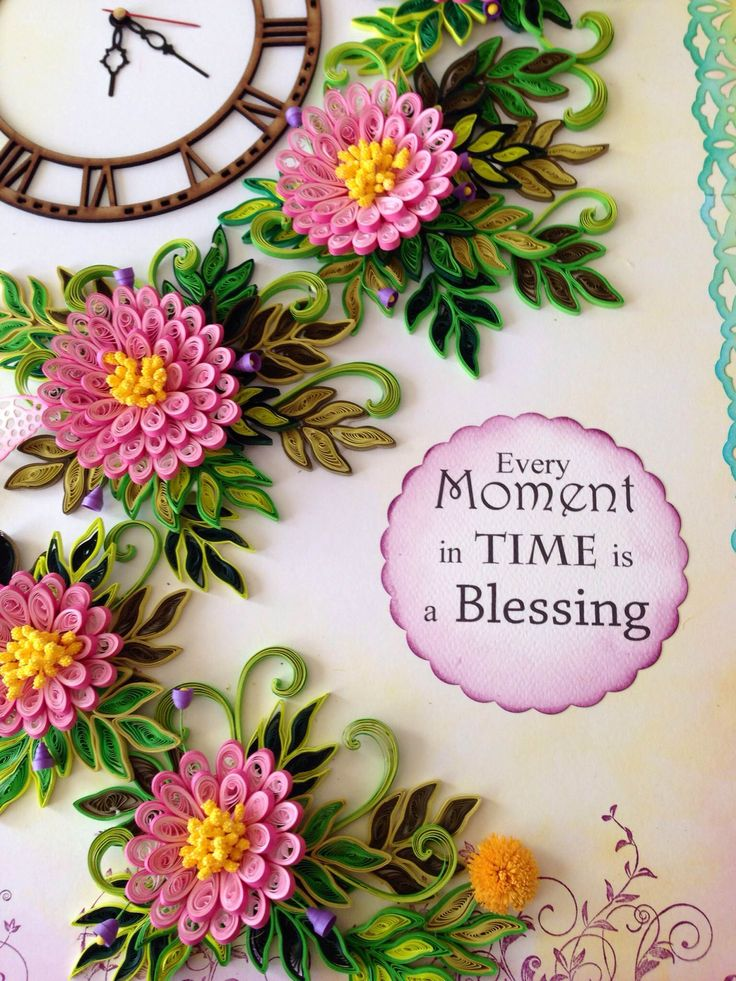 Paper quilling wall clocks paper quilling pinterest for Paper quilling work