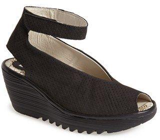 Women's Fly London 'Yala' Perforated Leather Sandal #peeptoe #sale #shoes #hot