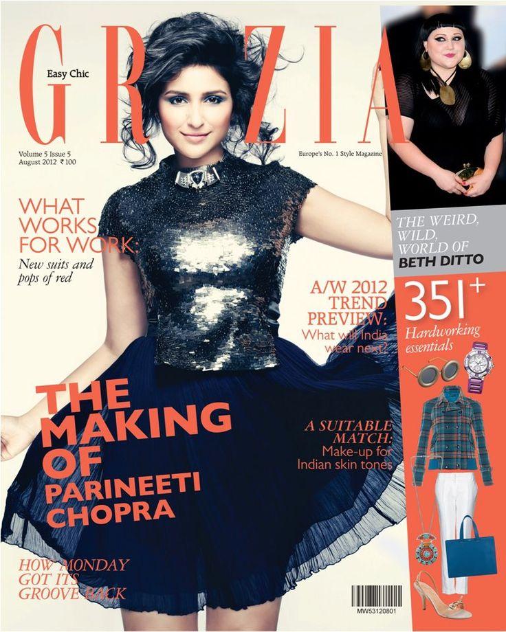 Parineeti Chopra on the cover of Grazia (August - 2012)