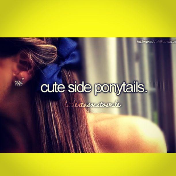 Side ponytails