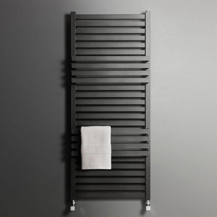 Bauhaus Seattle Designer Heated Towel Rail Radiator - Metallic Black Matte - 1185 x 500mm