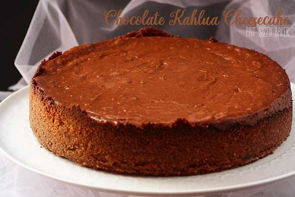 CHOCOLATE KAHLUA CHEESECAKE ~ Impress your friends with this amazing Chocolate Cheesecake with a surprise ingredient.