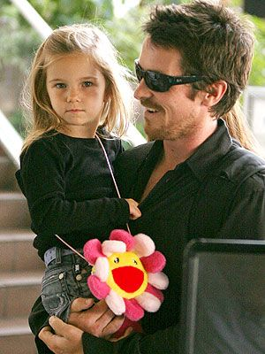 Christian Bale with his daughter Emmaline.