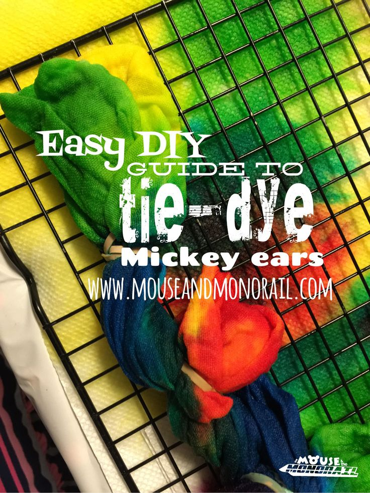 This tutorial walks you through the easy steps of tie-dying your own Disney shirt. Build up excitement for your next Disney vacation with this simple DIY tie-dye Mickey.