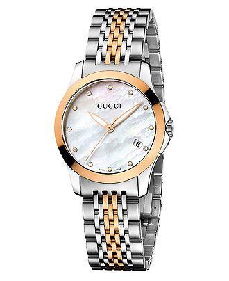 Gucci Watch, Women's Swiss G-Timeless Two Tone Stainless Steel Bracelet Brands