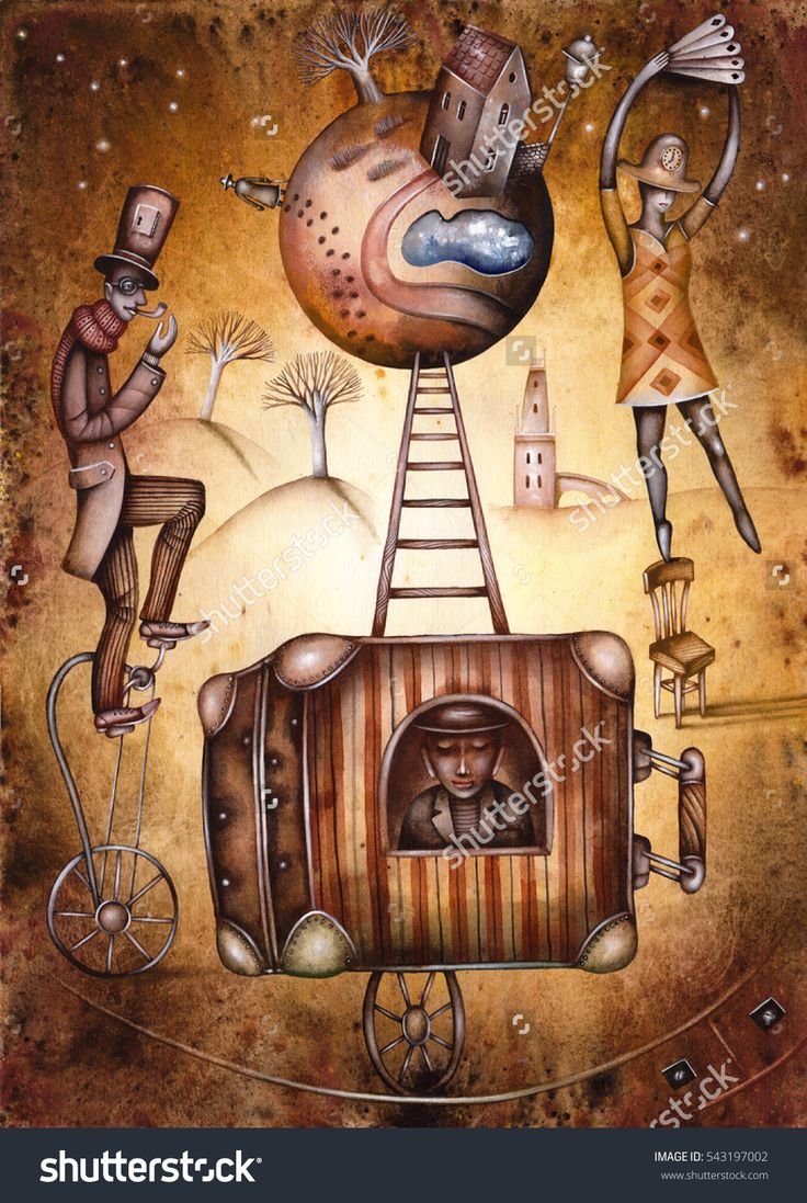 Circus by Eugene Ivanov #cirque #circus #clown #clownery #illustration #eugeneivanov #@eugene_1_ivanov