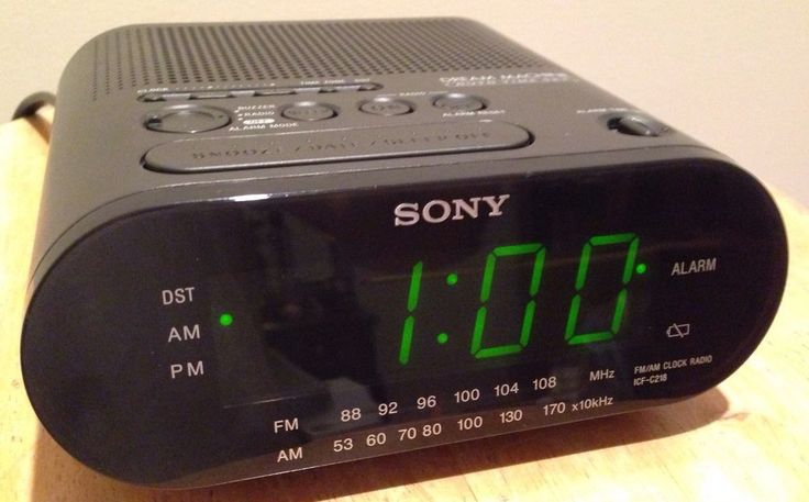 how to set a sony machine alarm clock icf c218