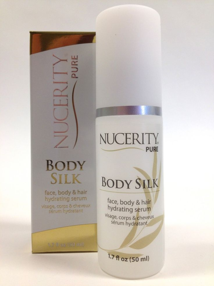 NuCerity Pure Body Silk deeply hydrates, softens and illuminates the appearance of skin and hair with a luxurious mixture of natural oils and nutrients. Use on your face and body to soothe and calm extremely dry and sensitive skin as well as add conditioning and extra shine to your hair. It's like a spa treatment in a bottle!