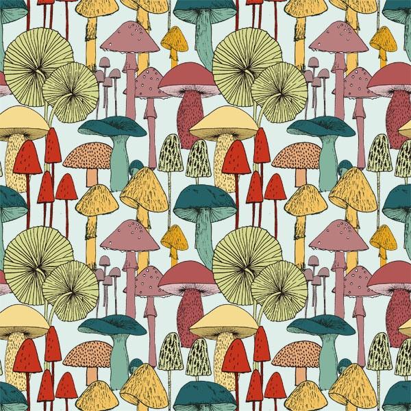 Daily Pattern No. 14 - Mushrooms