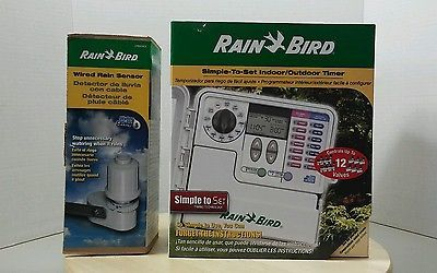 Rain Bird 12-Zone Simple-to-Set Indoor/Outdoor Irrigation Timer w rain sensor