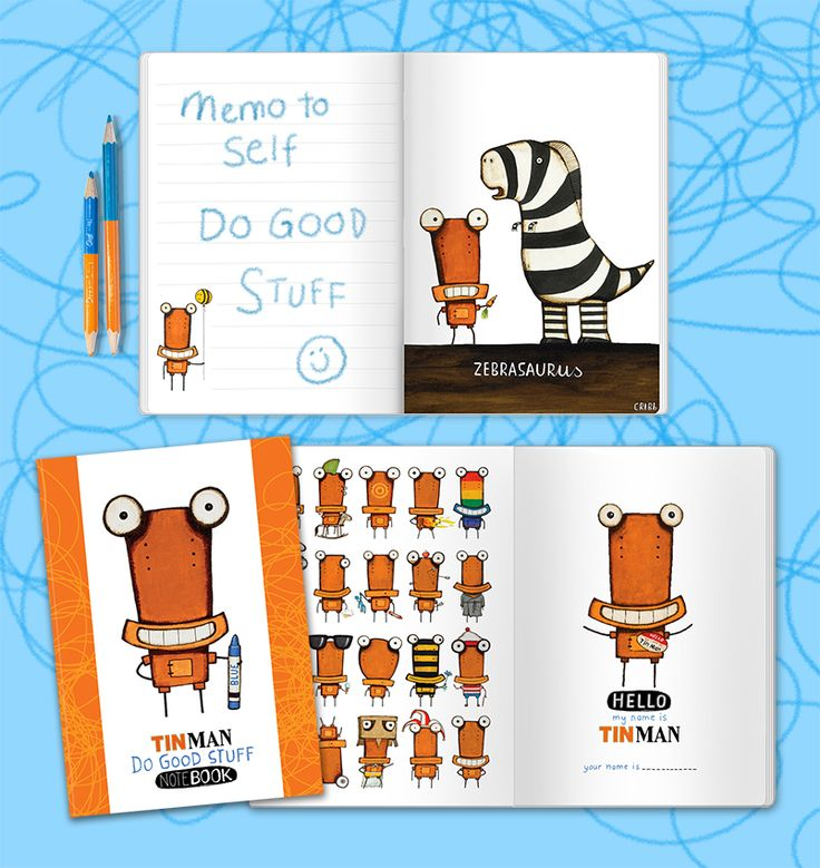 Just released, the 'Do Good Stuff' notebook is filled with delightful 'Tinny' images and plenty of space to write good stuff down. Available in retailers throughout NZ and online from www.imagevault.co.nz