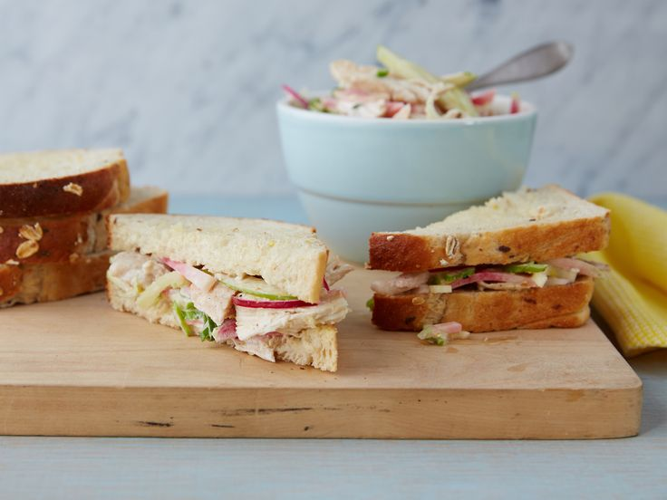 Chicken or Turkey Salad Sandiwiches #LaborDay: Food Network, Network Kitchen, Fnk Chicken Or Turkey Salad, Soups Salads Sandwiches, Recipes Sandwiches, Salad Sandwiches, Sandwich Recipes, Sandwiches Recipe